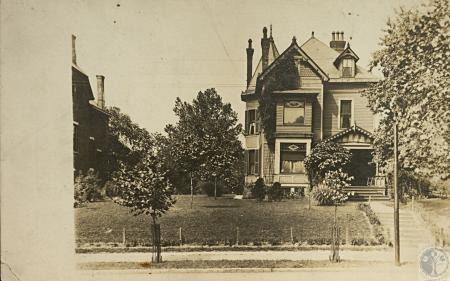Image: kce000105posta - Motch House. West side of Madison at 15th (site of Masonic Temple)