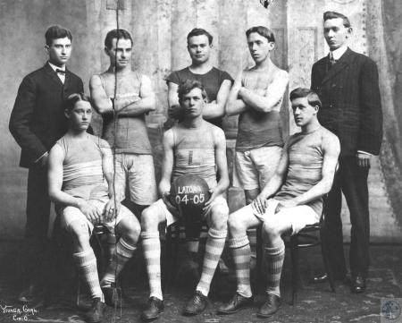 Image: kce000267photo - Latonia Athletic Club. Top row: Unknown, A.J. Dehlinger, Grouer Morgan, _ Schlapp, Frak Rothert. Frank....