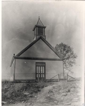 Image: kce001076photo - Church with wire fence
