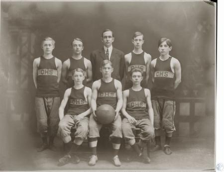 Image: kcen00089photo - Covington High School team - Charles S. Dold - front row left