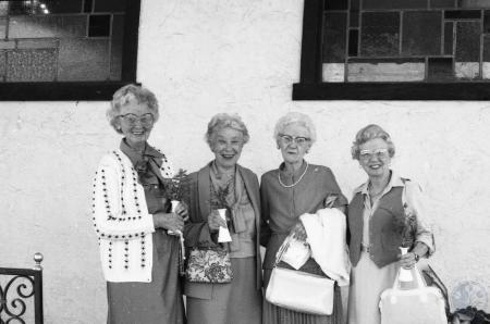 Image: ste001005022 - Women enjoying lunch together. Possibly employees/volunteers of St. Luke Hospital.