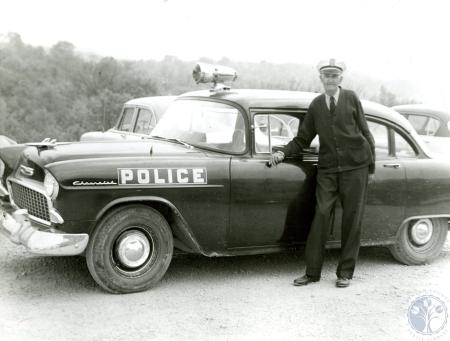 Image: ste001053003 - Southgate police officer and his cruiser
