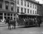 di107326 - Horse pulled trolley at Middletown, Ohio.