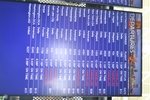 di128343 - Delta Air Lines list of departures showing ...
