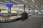 di128357 - Empty baggage claim carousels at the Greater ...