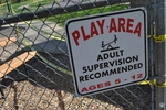 di128360 - Locked playground with cordoned off areas