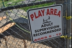 di128361 - Locked playground with cordoned off areas
