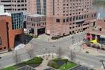 di128396 - View looking towards Mariott Hotel, deserted ...
