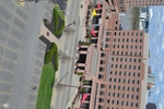 di128409 - View of Embassy Suites with nearly empty ...