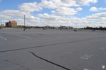 di128417 - Nearly empty parking lot at CVG