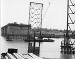 di128712 - Looking South at pier 8, I-471 bridge project