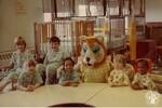 di140360 - Children at St. Elizabeth with hospital mascot, ...