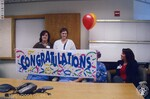 di140383 - Unnamed St. Elizabeth employees with 'Congratulations' ...