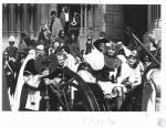 di17306 - George & Jean Ann Johnson in parade leaving ...