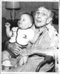di56087 - Mrs. Dolly Rigsbee (105) with Mark Agnor ...