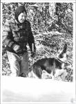 "di65023 - Gene Adams (65) walking his dog ""Rosie"" in ..."