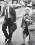 di79487 - John Berger, Patsy Slayback leaving the federal ...