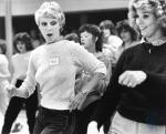 di84444 - Peggy Schavell, Burlington, tries out for ...