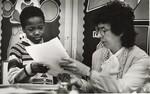 di98810 - Richard Hughes, a first-grader at the 1st ...